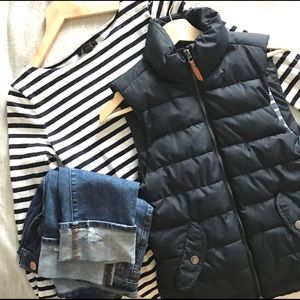 Women's H&M LOGG Label of Graded Goods Navy Vest
